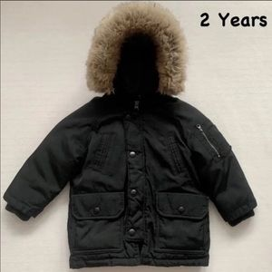babyGAP Boy's Black Puffer Jacket, 2 Years